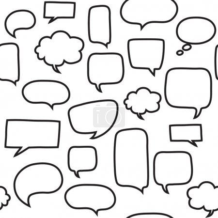 Seamless pattern with speech bubbles. Beautiful vector design.