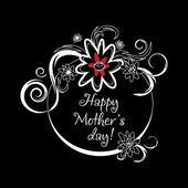Vintage Mothers den štítek na tabuli. šťastné matky den karty. Den matek vektor