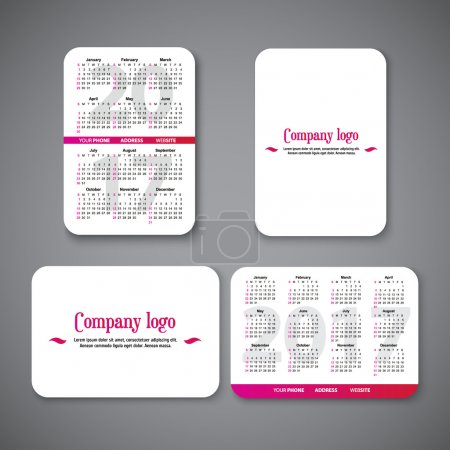 template clean design pocket calendar 2017 with place for the company logo. vector illustration. Vertical and horizontal pocket calendar