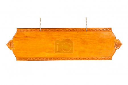 old Wooden sign isolated on white with clipping path