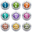 Round Colorful Chrome Warranty Badges with Gem Sto...