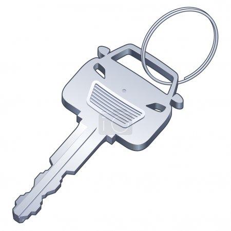 Car Key on a Ring