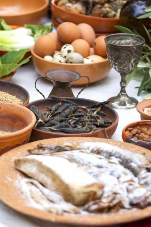 Preparing ancient Roman food