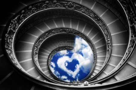 Path to love - the famous spiral stairs in vatican museum (Rome)