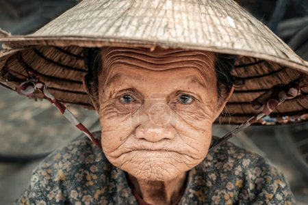 Portrait of old vietnamese woman