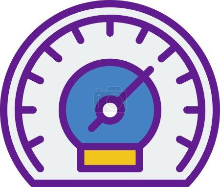 Illustration pour Compteur de vitesse. icône web design simple - image libre de droit