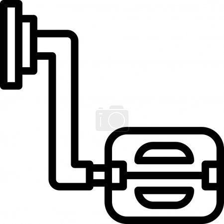 Illustration for Bike Pedal line vector icon. - Royalty Free Image