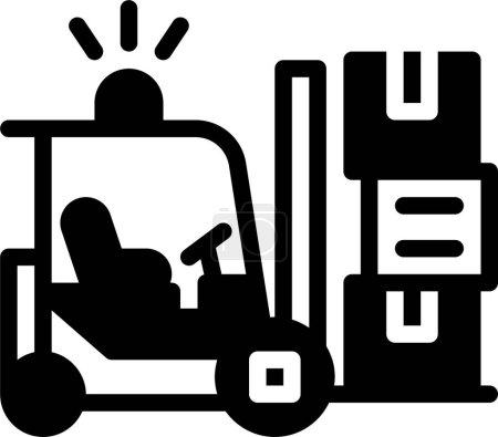 Illustration pour Chariot élévateur. icône web illustration simple - image libre de droit