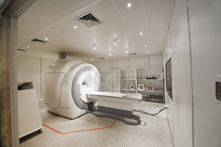 MRI scanner room in hospital