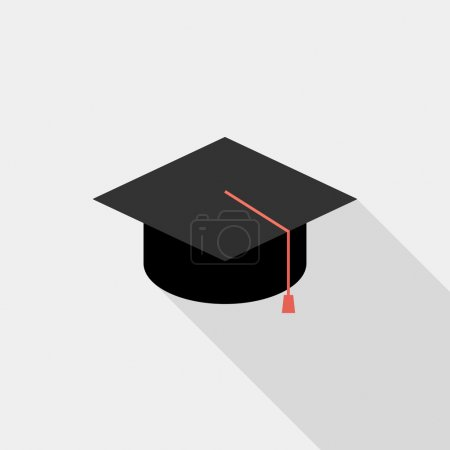 icono de tapa cuadrada académico