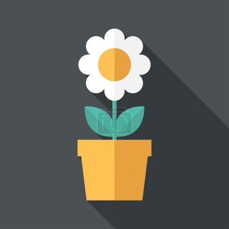 Photo for Houseplant icon. Flat design style modern vector illustration. Isolated on stylish color background. Flat long shadow icon. Elements in flat design. - Royalty Free Image