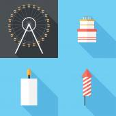 Flat design  Holiday icons