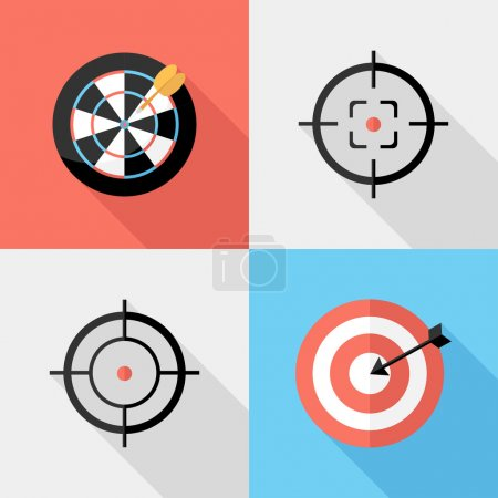 Darts and sight icons.