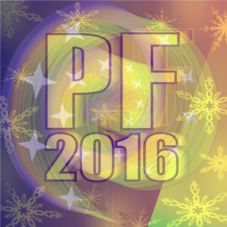 Happy new year background 2016 - decoration for New Year welcome party
