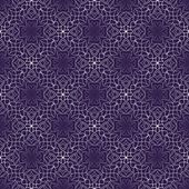 Dark purple abstract vintage background with rhomboid lace patterns Seamless white vector ornament in diagonal stripes