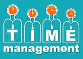 Time management an important component of soft skills training Presentation template for lecture or workshop for teams Useful in business sphere for corporate training