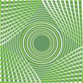 Green abstract decorative background tile with curved strips and concentric circles in middle white and green design with gradients