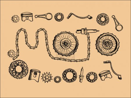 Vintage moto parts