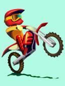 Cartoon motorcycle illustration