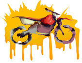 Motocross off-road bike water color drawing Vector illustration