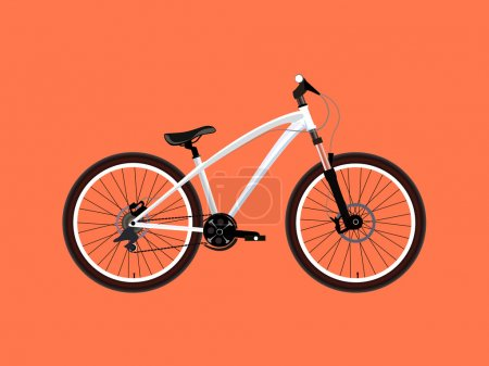 Sport white Bicycle
