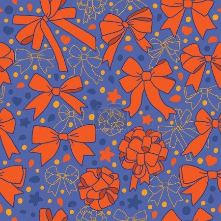 Illustration pour Modèle orange sans couture avec des arcs - image libre de droit