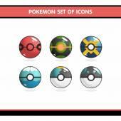 Pokemon icons set