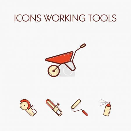 Icons worcking tools