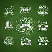Set of contour badges back to school