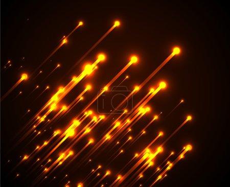 Orange neon light rays
