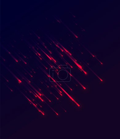 Illustration for Vector illustration of abstract background with blurred red neon light rays - Royalty Free Image
