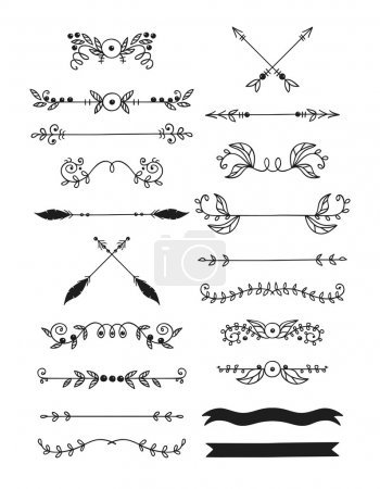 Illustration for Calligraphic design elements - Royalty Free Image