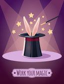 Magic top hat with rabbit