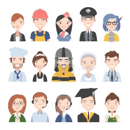Photo pour Ensemble de personnes de différentes professions - image libre de droit