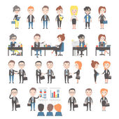 Group of business and office people on white background