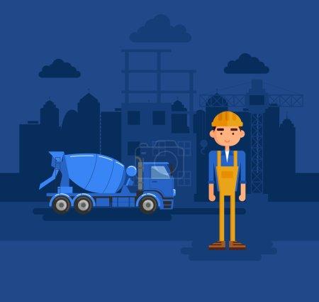 constructeur sur un chantier de construction