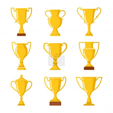 Trophy Cups Icons set