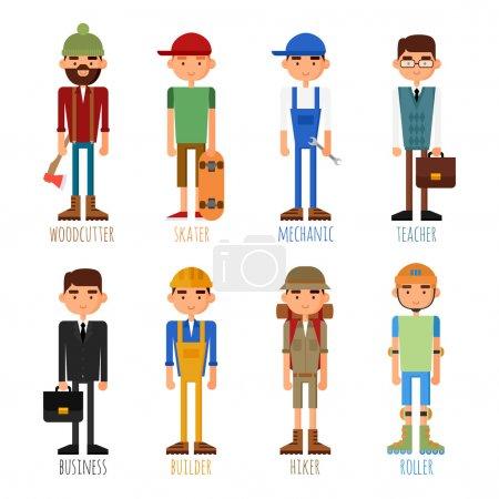 Photo pour Un ensemble de personnes de différentes professions et passe-temps . - image libre de droit