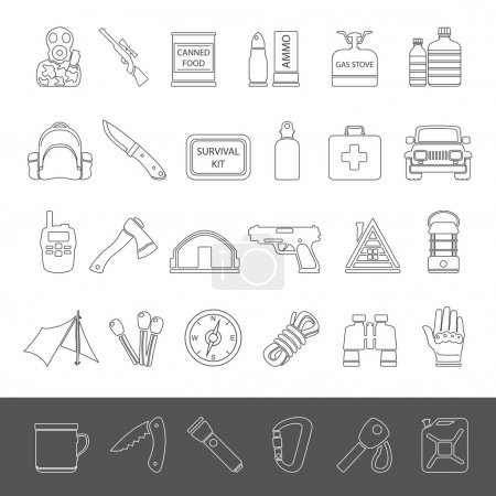 Line Icons - Doomsday Preppers