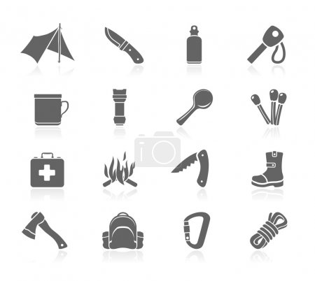 Illustration for Outdoor icons - Royalty Free Image