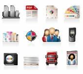 Offset Printing Icon Set