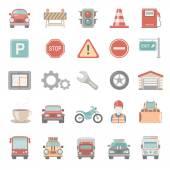 Ploché ikony - doprava