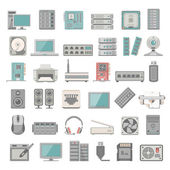 Flat Icons - Computer and Network Hardware
