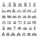 Постер, плакат: Black Icons Buildings