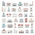 Buildings icon set...