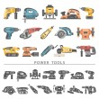 Power tools icon set...