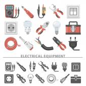 Flat Icons - Electrical Equipment