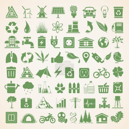 Illustration for Environmental Conservation Icon Set - Royalty Free Image