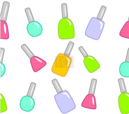Nail polish on white