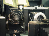 Starý fotoaparát Vintage sběratelské objektu